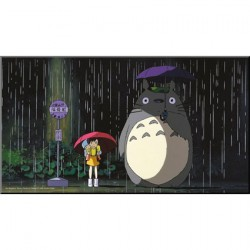 Figurine Mon voisin Totoro Tableau Bois Bus Stop Semic - Studio Ghibli Boutique Geneve Suisse