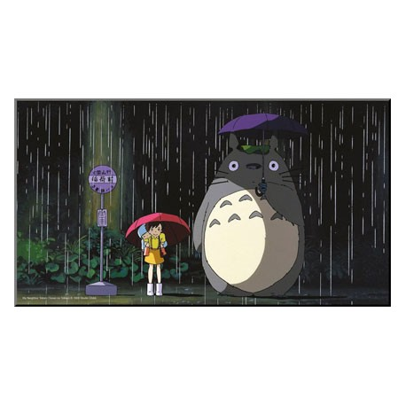 Figur Totoro Bus Stop Wood Panel Semic - Studio Ghibli Geneva Store Switzerland