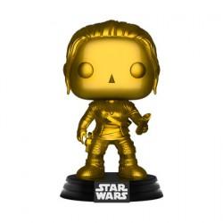 Figurine Pop Star Wars Rey Metallic Gold Edition Limitée Funko Boutique Geneve Suisse