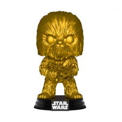 Figurine Pop Star Wars Chewbacca Metallic Gold Edition Limitée Funko Boutique Geneve Suisse