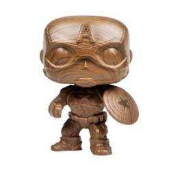 Figurine Pop Marvel Captain America Wood Deco Edition Limitée Funko Boutique Geneve Suisse
