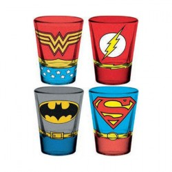 Figur DC Comics Set of 4 Shot Glasses GB eye Geneva Store Switzerland