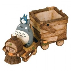 Figur Studio Ghibli Totoro Train Flower Pot Semic - Studio Ghibli Geneva Store Switzerland