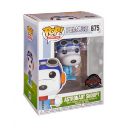 Figur Pop Peanuts Snoopy as Astronaut No Helmet Limited Edition Funko Geneva Store Switzerland