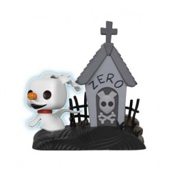 Figurine Pop 15 cm Phosphorescent The Nightmare Before Christmas Zero in Doghouse Edition Limitée Chase Funko Boutique Geneve...