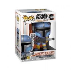 Figurine Pop Star Wars The Mandalorian Heavy Infantry Metallic Funko Boutique Geneve Suisse