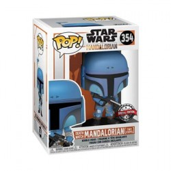 Figurine Pop Star Wars The Mandalorian Death Watch Two Stripes Edition Limitée Funko Boutique Geneve Suisse