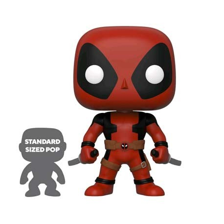 Figur Pop 25 cm Marvel Deadpool Two Swords Red Limited Edition Funko Geneva Store Switzerland