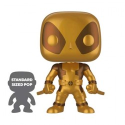 Figur Pop 25 cm Marvel Deadpool Two Swords Gold Limited Edition Funko Geneva Store Switzerland