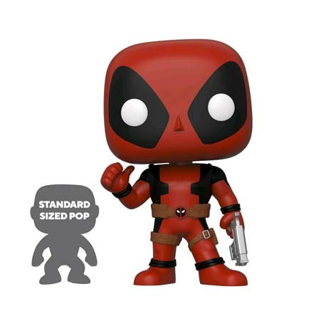 Figur Pop 25 cm Marvel Deadpool Thumbs Up Red Limited Edition Funko Geneva Store Switzerland