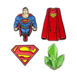 Figurine DC Comics Pack 4 Pin's Superman Sales One Boutique Geneve Suisse