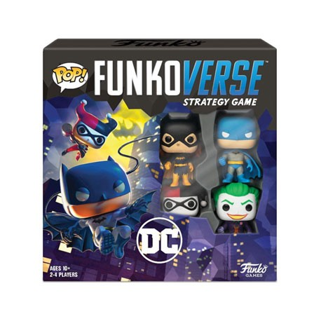 Figur Pop Funkoverse DC Comics Board Game 4 Character Base Set French Version Funko Geneva Store Switzerland