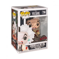 Figurine Pop Disney Diamond 101 Dalmations Cruella Glitter Edition Limitée Funko Boutique Geneve Suisse