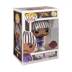 Figurine Pop Rap 2Pac Tupac Shakur in Thug Life Overalls Edition Limitée Funko Boutique Geneve Suisse