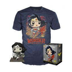 Figurine Pop et T-shirt DC Comics Wonder Woman Edition Limitée Funko Boutique Geneve Suisse