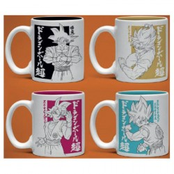 Figurine Dragon Ball Pack 4 Tasses Espresso Goku GB eye Boutique Geneve Suisse