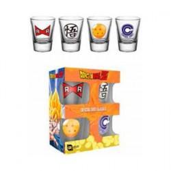 Figurine Dragon Ball Z Set 4 verres à liqueur Mix GB eye Boutique Geneve Suisse