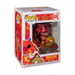 Figurine Pop Disney Diamond Mulan Mushu with Gong Glitter Edition Limitée Funko Boutique Geneve Suisse