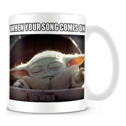 Star Wars The Mandalorian Baby Yoda When Your Song Comes On Mug