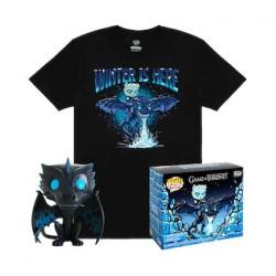 Figuren Pop Phosphoreszierend und T-shirt Game of Thrones Icy Viserion Limitierte Auflage Funko Genf Shop Schweiz