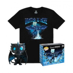 Figurine Pop et T-shirt Game of Thrones Icy Viserion phosphorescent Edition Limitée Funko Boutique Geneve Suisse