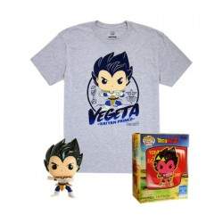 Figurine Pop Metallique et T-shirt Dragon Ball Z Vegeta Edition Limitée Funko Boutique Geneve Suisse