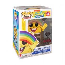 Figurine Pop Diamond SpongeBob SquarePants avec Arc-en-ciel Glitter Edition Limitée Funko Boutique Geneve Suisse