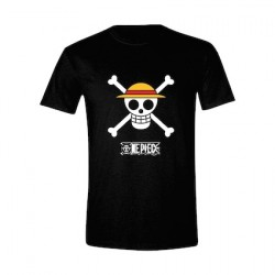 Figur T-Shirt One Piece Luffy Logo PCM Geneva Store Switzerland