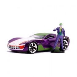 Figurine DC Comics Joker et 2009 Chevy Corvette Stingray métal Jada Toys Boutique Geneve Suisse