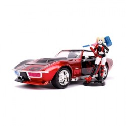 Figur DC Comics Harley Quinn and 1969 Chevy Corvette Stingray with Figure Jada Toys Geneva Store Switzerland