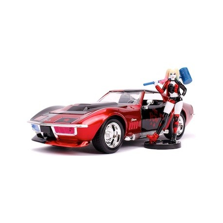 Figur DC Comics Harley Quinn and 1969 Chevy Corvette Stingray with Figure Jada Toys Geneva Store Switzerland