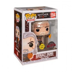 Figurine Pop Phosphorescent The Witcher 3 Wild Hunt Geralt Igni Edition Limitée Funko Boutique Geneve Suisse