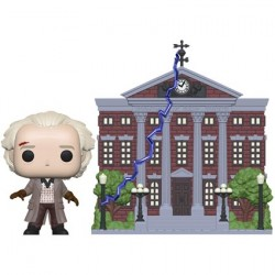 Figurine Pop Back To The Future Dr. Emmett Brown with Clock Tower Funko Boutique Geneve Suisse