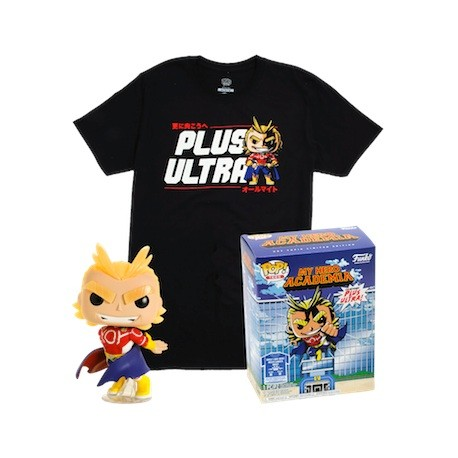 Figur Pop Glow in the Dark and T-shirt My Hero Academia All Might Limited Edition Funko Geneva Store Switzerland