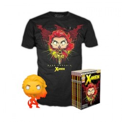 Figur Pop and T-shirt X-Men - Dark Phoenix Orange Translucent Limited Edition Funko Geneva Store Switzerland