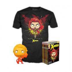 Figurine Pop et T-shirt X-Men - Dark Phoenix Orange Translucide Edition Limitée Funko Boutique Geneve Suisse
