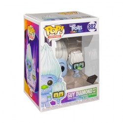 Figurine Pop Diamond Trolls World Tour Hip Hop Guy with Tiny Glitter Funko Boutique Geneve Suisse
