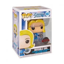 Figurine Pop Fantastic Four Invisible Girl Translucent Edition Limitée Funko Boutique Geneve Suisse