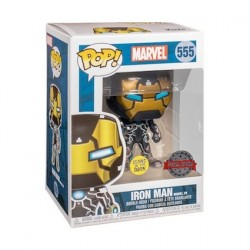 Figur Pop Glow in the Dark Marvel Iron Man Mark XXXIX Limited Edition Funko Geneva Store Switzerland