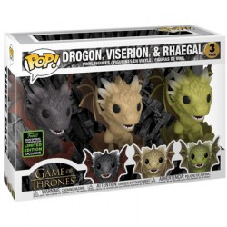 Figur Pop ECCC 2020 Game of Thrones Drogon Viserion Rhaegal in Eggs Limited Edition Funko Geneva Store Switzerland