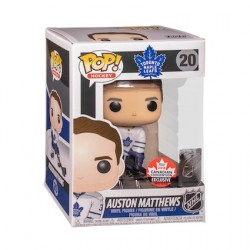 Figurine Pop 2018 Canadian Convention Hockey NHL Auston Matthews Toronto Maple Leafs Away Uniform Edition Limitée Funko Bouti...