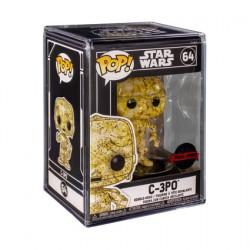 Figur Pop Futura Star Wars C-3PO with Hard Acrylic Protector Limited Edition Funko Geneva Store Switzerland