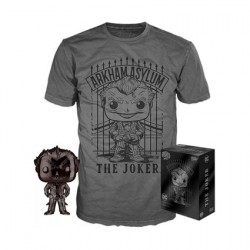 Figurine Pop et T-shirt DC Comics The Joker Chrome Edition Limitée Funko Boutique Geneve Suisse