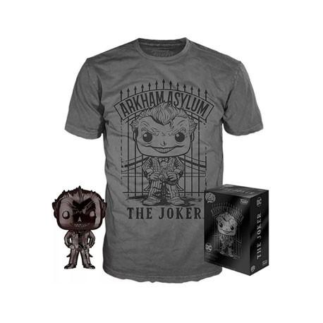 Figur Pop and T-shirt DC Comics The Joker Chrome Limited Edition Funko Geneva Store Switzerland