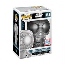 Figurine Pop NYCC 2017 Star Wars Rogue One Chromed Death Star Droid Edition Limitée Funko Boutique Geneve Suisse