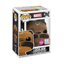 Figur Pop NYCC 2017 Flocked Marvel Inhumans Lockjaw Limited Edition Funko Geneva Store Switzerland