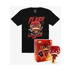 Figurine Pop Métallique et T-shirt Dc Comics The Flash Edition Limitée Funko Boutique Geneve Suisse
