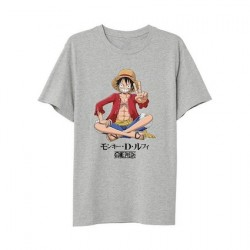 Figur T-Shirt One Piece Luffy Sitting PCM Geneva Store Switzerland