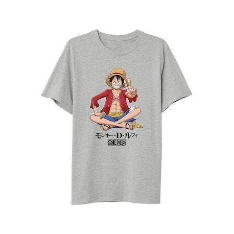 Figur T-Shirt One Piece Luffy Sitting PCM Geneva Store Switzerland