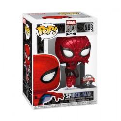 Figuren Pop Metallisch Spider-Man First Appearance 80th Anniversary Limitierte Auflage Funko Genf Shop Schweiz